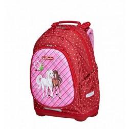 Rucsac scoala primara copii Herlitz Bliss Horses ergonomic si Jucarie Spinner Cadou