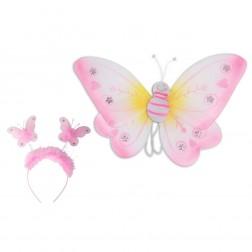 Set accesorii Fluturas Roz
