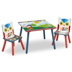 Set masuta si 2 scaunele Woodland
