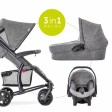 Set Carucior copii Malibu 4 Trio Set Melange Grey - Hauck