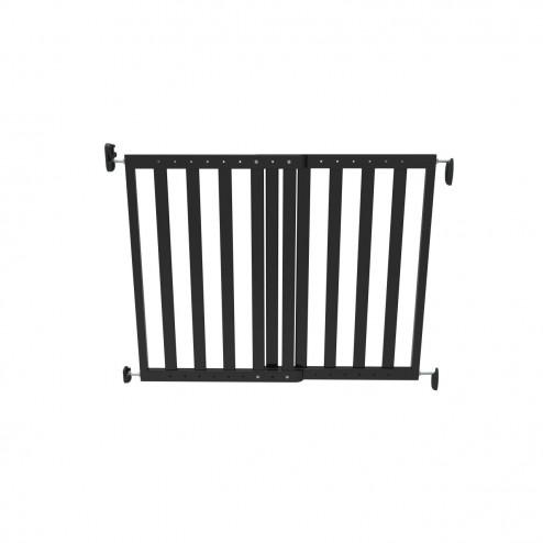 Poarta de siguranta extensibila 64-100 cm lemn negru Noma