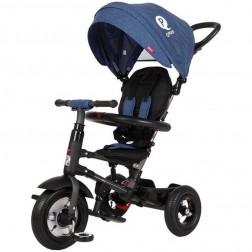 Tricicleta pliabila cu roti gonflabile Qplay Rito - Sun Baby - Blue