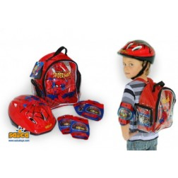 Set protectii copii bicicleta trotineta role Saica Spiderman