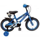 Bicicleta baieti Super Blu 14 inch cu roti ajutatoare partial montata - Volare