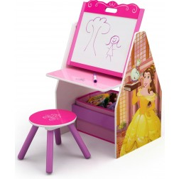 Set 2 in 1 organizator si birou cu tablita si scaun Disney Princess Activity Center