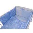 Lenjerie Light Stars Blue 11 Piese 120x60 cm - MyKids