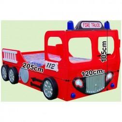 Pat in forma de masina Pompieri - Plastiko