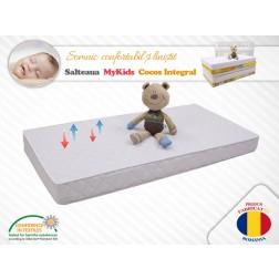 Saltea Fibra De Cocos Integral 140x70x8 Husa Microfibra Matlasata - MyKids
