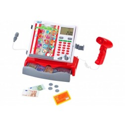 Casa de marcat cu baterii scanner microfon si accesorii copii - Globo