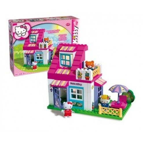 Set constructie Plus Hello Kitty Casuta cu terasa - Unico