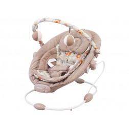 Balansoar muzical copii Baby Mix LCP BR245 002 Latte