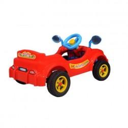 Masinuta rosie cu pedale, Visul copiilor - Guclu Toys