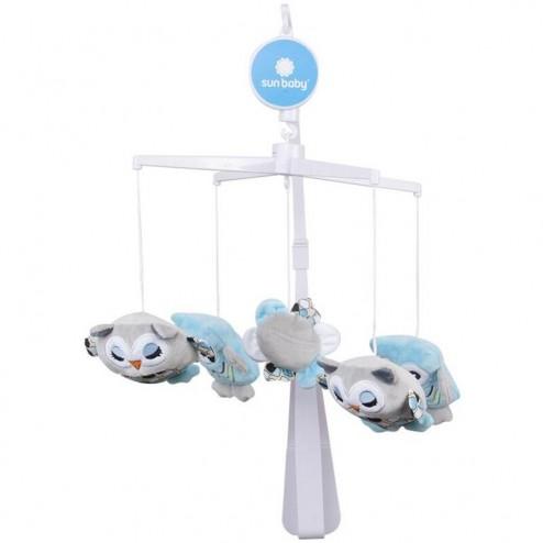 Carusel muzical Bufnita Albastru - Sun Baby