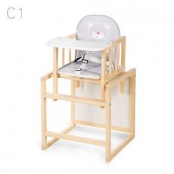 Scaun de masa multifunctional din lemn pentru copii Aga Natur C1 - Klups