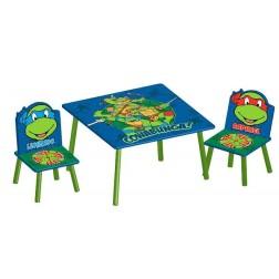 Set masuta si 2 scaunele Testoasele Ninja