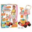 Carucior cu accesorii curatenie, RS Toys