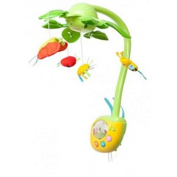 Carusel muzical cu lumini si patru jucarii de plus agatatoare pentru copii - Winfun