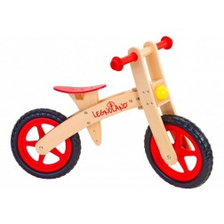Bicicleta fara pedale din lemn Globo Legnoland 35483 pentru copii