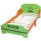 Pat cu cadru din lemn Green Crayon - Style