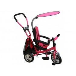 Tricicleta copii cu Scaun Reversibil Baby Mix Safari WS611 Pink
