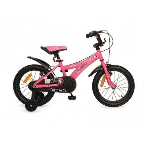 Bicicleta Copii Byox 16 DEVIL Roz