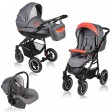 Carucior Crooner 3 in 1 - Vessanti - Red/Gray