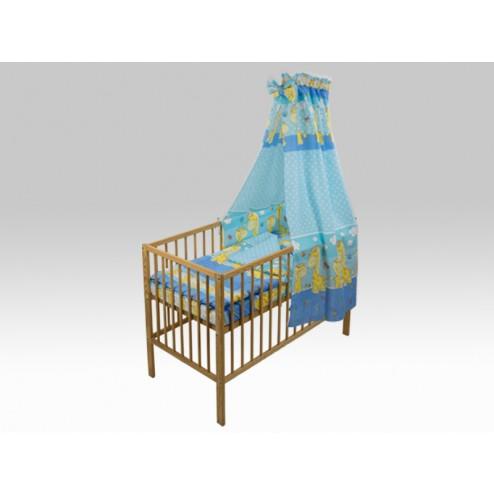 Lenjerie MyKids Happy Giraffe Albastru 5 Piese 120x60 cm