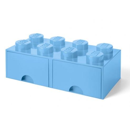 Cutie depozitare LEGO 2x4 cu sertare,albastru deschis (40061736)