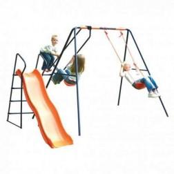 Leagan, balansoar si tobogan MVS Saturn pentru copii combinate