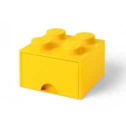 Cutie depozitare LEGO 2x2 cu sertar, galben (40051732)