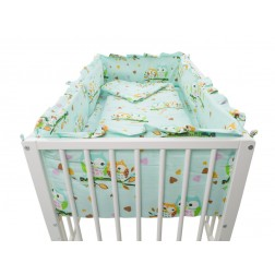 Lenjerie MyKids Mini Bufnite Turquoise 4+1 Piese 140x70