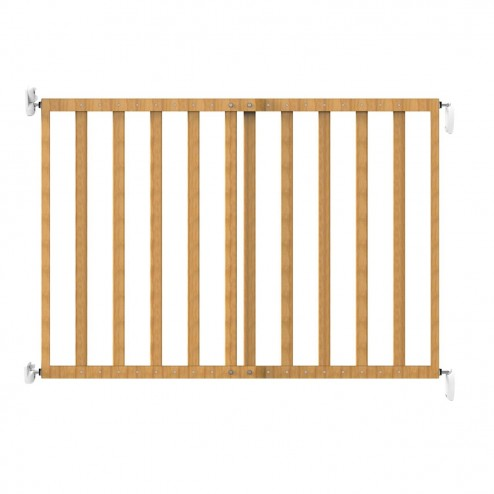 Poarta de siguranta extensibila 64-100 cm lemn natur Noma