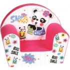 Fotoliu din burete pentru copii Kids Shopping Trade