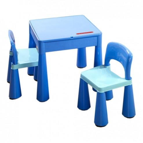 Masuta Guliver cu 2 scaune - Tega Baby - Albastru