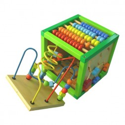 Cub din lemn cu Multiple Activitati