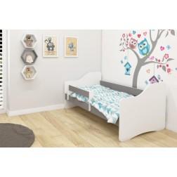 MyKids Patut Tineret III Happy White-Gray - 140x70