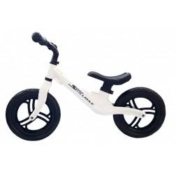 Bicicleta fara pedale 12 inch Alba inaltime reglabila roti EVA - SKILLMAX
