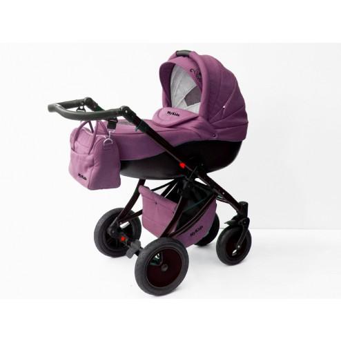Carucior Pentru Copii 3 In 1 Mykids Amber Purple-Black