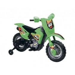 Motocicleta electrica Enduro Motocross 6V verde cu telecomanda control parinte - Globo