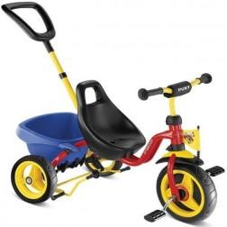 Tricicleta cu maner, rosu, 2+, Puky