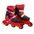 Role pentru copii cu 3 roti Saica 5833 Ladybug Buburuza Miraculoasa marime reglabila 31-34 roti interschimbabile frana de picior