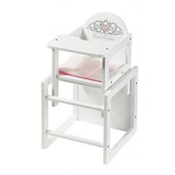 Scaun de masa din lemn pentru papusi Royal Princess