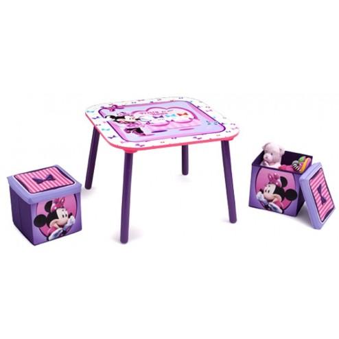 Set masuta si 2 tabureti Disney Minnie Mouse