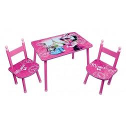 Set masuta si 2 scaunele Minnie Bowtique
