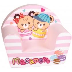 Fotoliu din burete pentru copii Macaron Trade