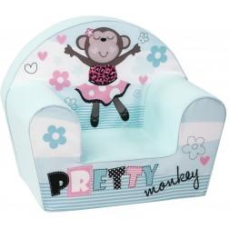 Fotoliu din burete pentru copii Pretty Monkey Trade