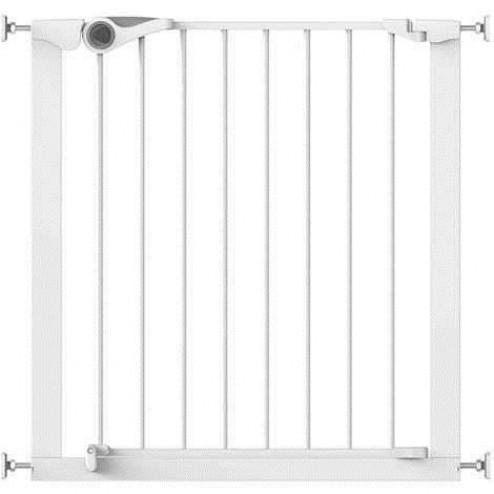 Poarta de siguranta Easy Fit presiune 75-82 cm metal alb Noma