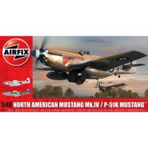 Kit constructie Airfix avion North American Mustang Mk I 1 48