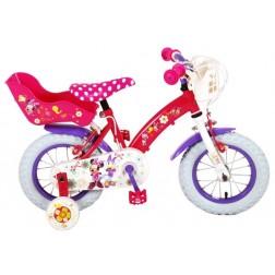 Bicicleta Volare Minnie Mouse cu roti ajutatoare 12 INCH