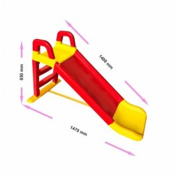 Tobogan 140 cm Rosu si Galben - MyKids